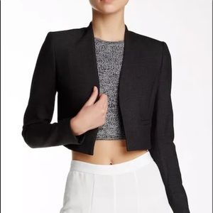 Alice and Olivia Madine cropped straight blazer  H